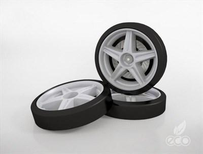 Объемные пластиковые колеса - фото 5947
