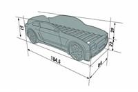 Кровать машина Мустанг 3D - фото 5573