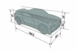 Кровать машина Мустанг 3D  графит - фото 6571