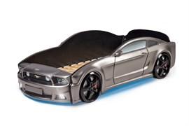 Кровать машина Мустанг 3D  графит - фото 6590