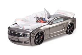 Кровать машина Мустанг 3D  графит