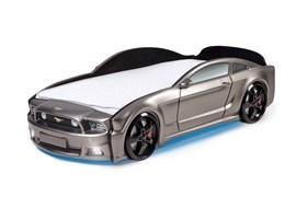 Кровать машина Мустанг 3D  графит - фото 6592