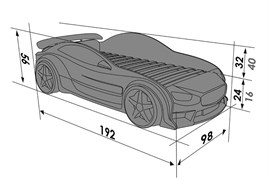 3D кровать машина EVO БМВ - фото 7080
