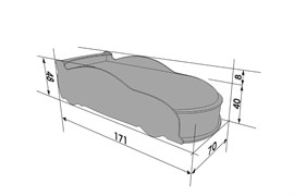 Кровать машина UNO Ауди А4 - фото 7271