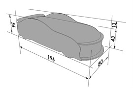 Кровать машина UNO Мерседес - фото 7352