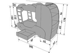 Двухъярусная кровать Скания +2 - фото 7477