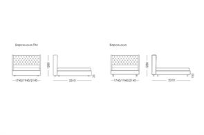 Кровать BARSELONA с подъемным механизмом - фото 9139